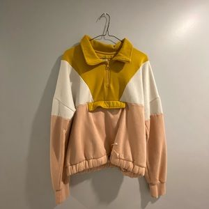 Colour blocking sweater